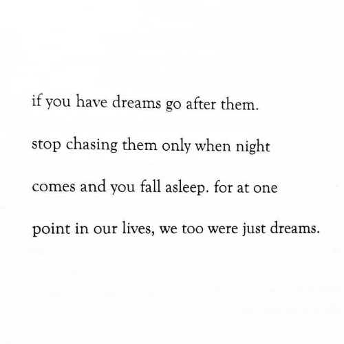 Fall, Dreams, and One: if you have dreams go after them  stop chasing them only when night  comes and you fall asleep. for at one  point in our lives, we too were just dreams.