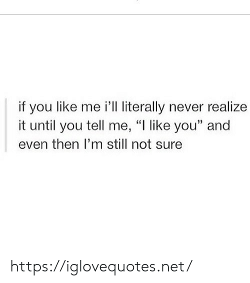"Im Still: if you like me i'll literally never realize  it until you tell me, ""I like you"" and  even then I'm still not sure https://iglovequotes.net/"