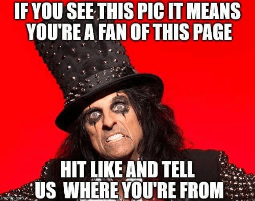 Memes, 🤖, and Page: IF YOU SEE THIS PIC IT MEANS  YOU'RE A FAN OF THIS PAGE  HIT LIKE AND TELL  US WHERE YOURE FROM  imgilip.oomA