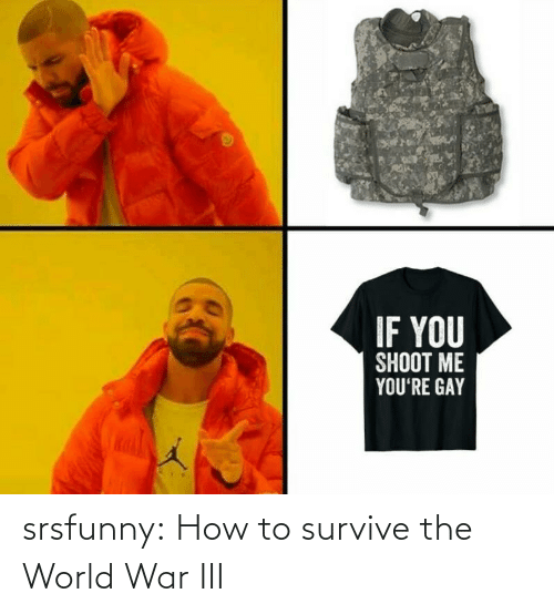 the world: IF YOU  SHOOT ME  YOU'RE GAY srsfunny:  How to survive the World War III