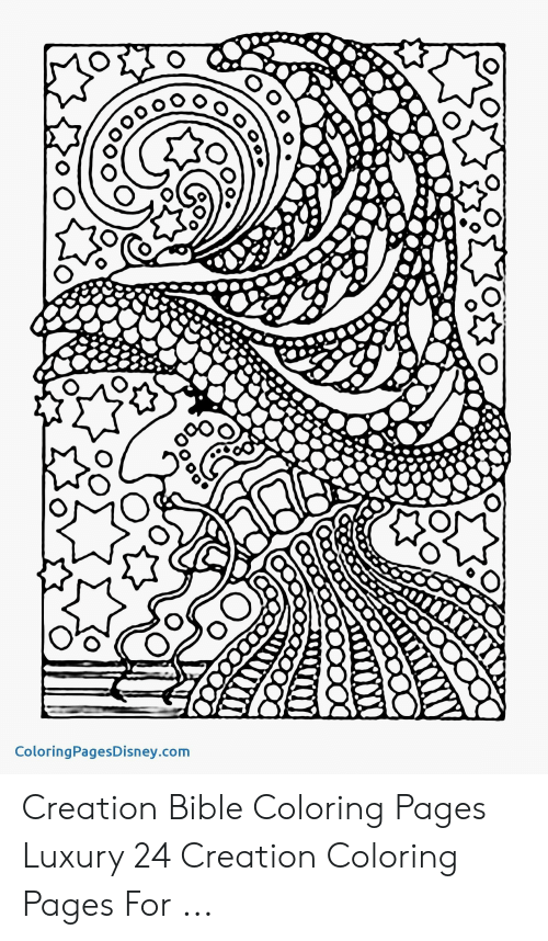 Bible Coloring: II  ColoringPagesDisney.com Creation Bible Coloring Pages Luxury 24 Creation Coloring Pages For ...
