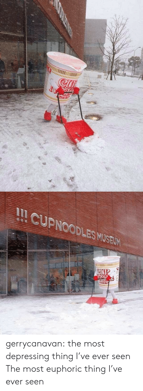 depressing: II CUPNOODLES MUSELW gerrycanavan:   the most depressing thing I've ever seen   The most euphoric thing I've ever seen