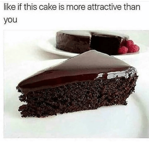 Memes, Cake, and 🤖: ike if this cake is more attractive than  you