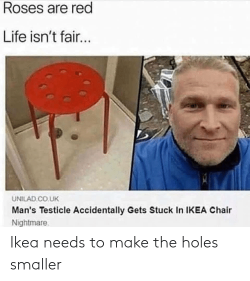 Holes: Ikea needs to make the holes smaller