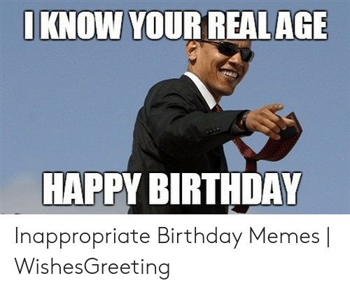 Inappropriate Birthday Wishes