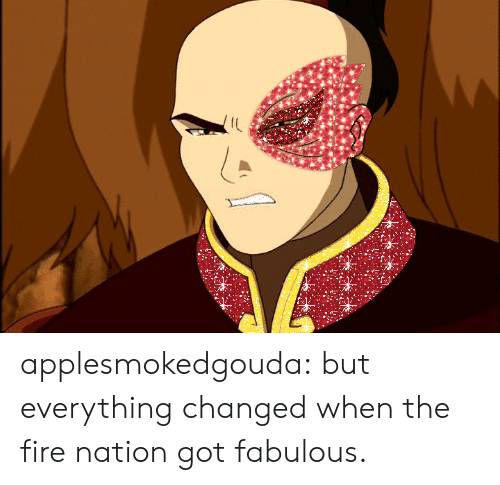 Changed When: IL applesmokedgouda:  but everything changed when the fire nation gotfabulous.