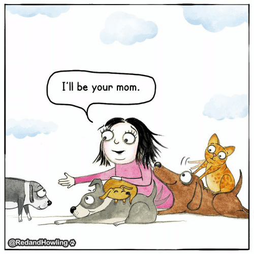 Memes, Mom, and 🤖: I'll be your mom.  ( re  @RedandFHowling