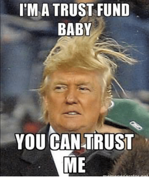 Im A Trust Fund Baby You Can Trust Me Baby Meme On Awwmemescom
