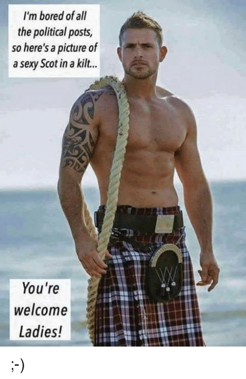 sexys: I'm bored of all  the political posts,  so here's a picture of  a sexy Scot in a kilt...  You're  welcome  Ladies! ;-)