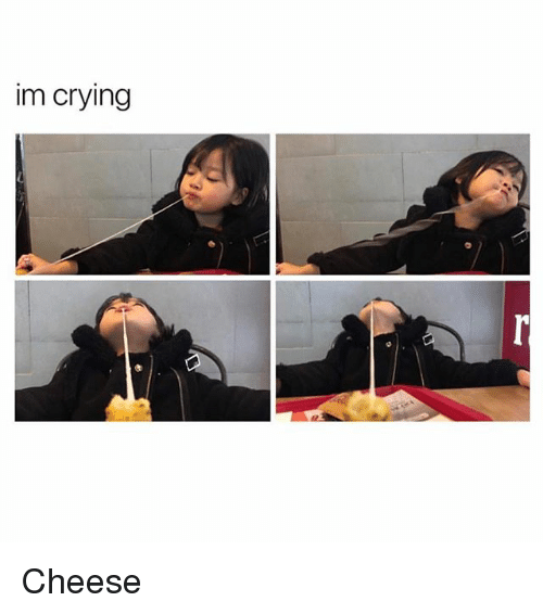 Crying, Girl Memes, and Cheese: im crying Cheese