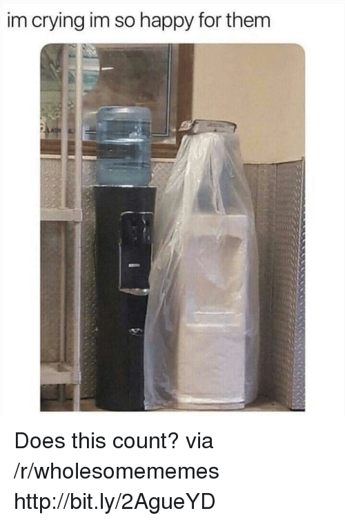 im so happy: im crying im so happy for them Does this count? via /r/wholesomememes http://bit.ly/2AgueYD