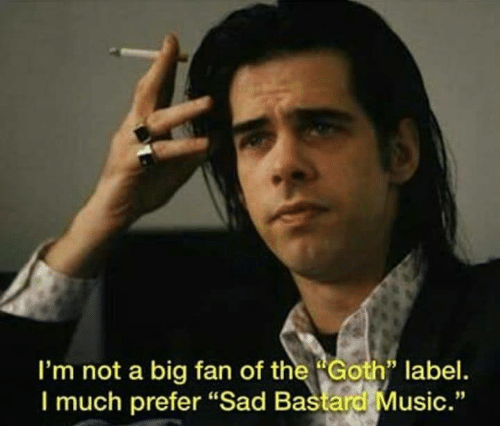 "Music, Sad, and Big: I'm not a big fan of the Golfh label.  I much prefer ""Sad Bastard Music."""