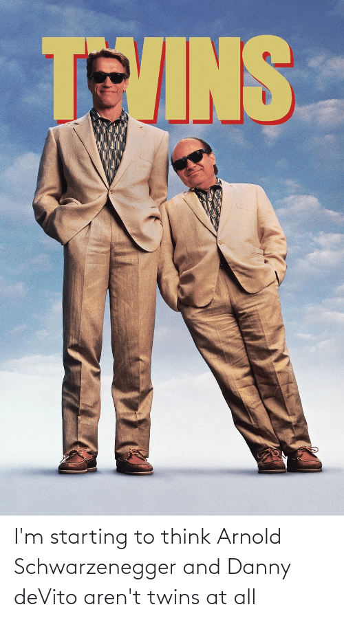 Twins: I'm starting to think Arnold Schwarzenegger and Danny deVito aren't twins at all