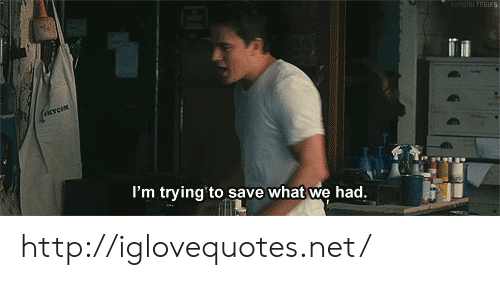 Http, Net, and What: I'm trying to save what we had. http://iglovequotes.net/