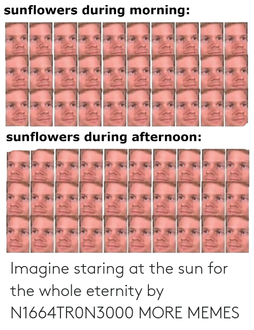 sun: Imagine staring at the sun for the whole eternity by N1664TR0N3000 MORE MEMES