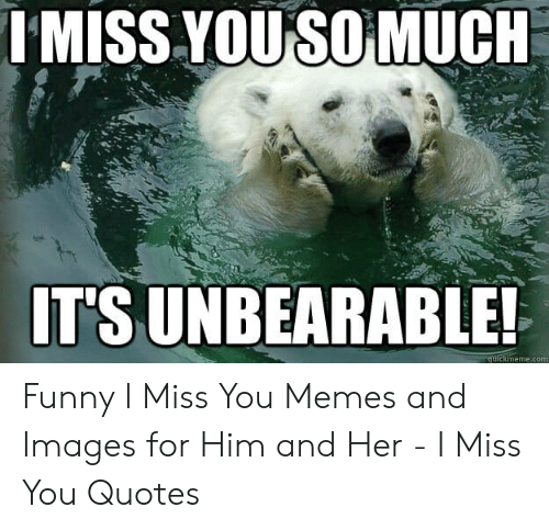 IMISS YOUSO MUCK IT'S UNBEARABLE! Memecom Funny I Miss You
