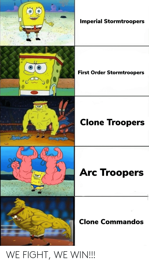 Clone: Imperial Stormtroopers  First Order Stormtroopers  Clone Troopers  ఔవిదత్  Arc Troopers  Clone Commandos WE FIGHT, WE WIN!!!