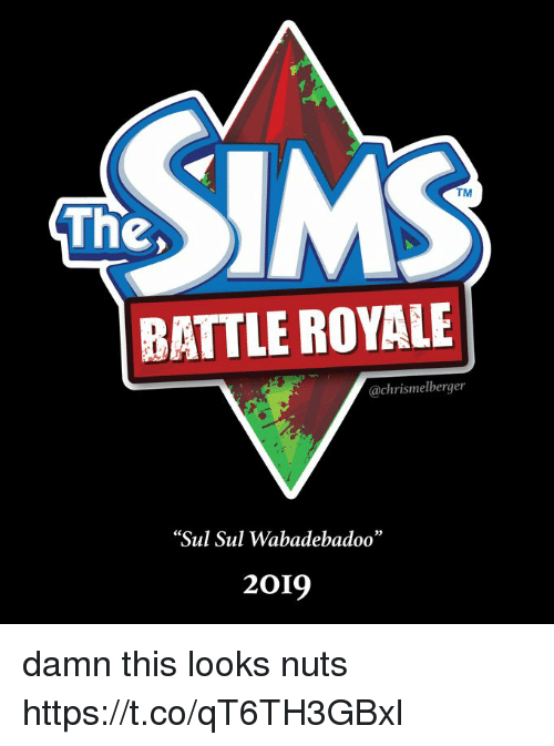 """Battle Royale, Ims, and Royale: IMS  TM  The,  BATTLE ROYALE  @chrismelberger  Sul Sul Wabadebadoo""""  2019 damn this looks nuts https://t.co/qT6TH3GBxl"""