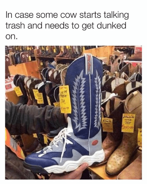 Dank, Trash, and 🤖: In case some cow starts talking  trash and needs to get dunked  on  70