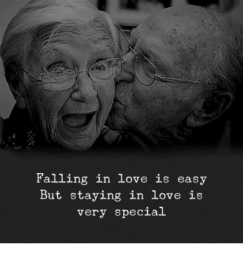 Love, In Love, and Special: in love is  But staying in love is  very special