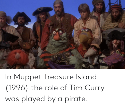 tim curry: In Muppet Treasure Island (1996) the role of Tim Curry was played by a pirate.