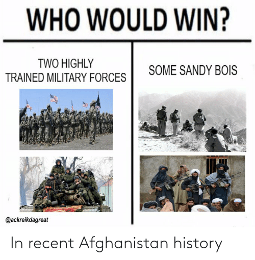 Afghanistan: In recent Afghanistan history