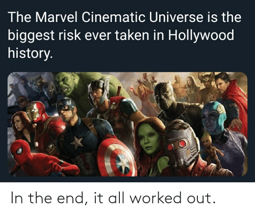 in the end: In the end, it all worked out.