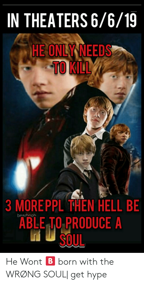 In THEATERS 6619 HE ONLY NEEDS TO KILL 3 MOREPPL THEN HELL