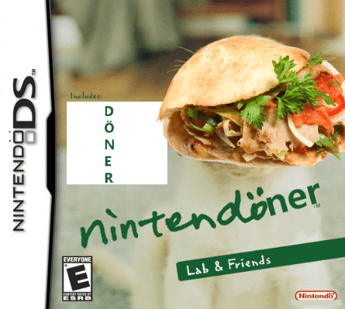 Content: Includes:  D  nintendöner  TM  EVERYONE  Lab & Friends  CONTENT RATED BY  Nintendo  NINTENDODS.  A:0 Z wR