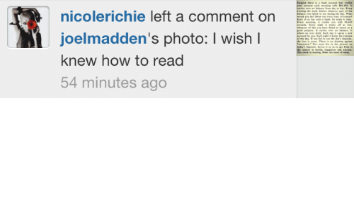 How To, How, and M&m: ing he bk d  fald  whr pt he  dring te Wh  nicolerichie left a comment on  E ing i m m s  joelmadden's photo: I wish I  he deIf pe f e de's depe  Theea d  te p  The ck  ring Mae  of da  knew how to read  54 minutes ago