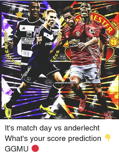 rti: INPPARII  RTI  REDDEVILSEDIT It's match day vs anderlecht What's your score prediction 👇 GGMU 🔴