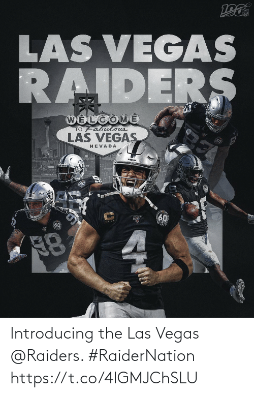 Las Vegas: Introducing the Las Vegas @Raiders. #RaiderNation https://t.co/4lGMJChSLU