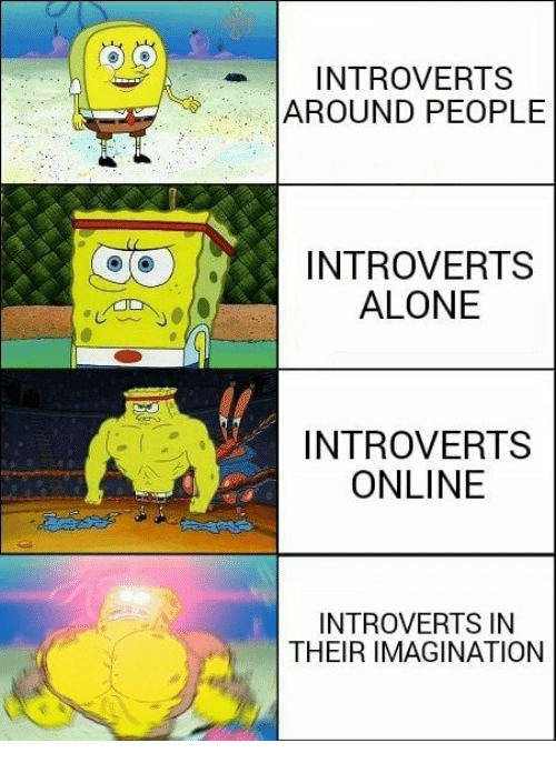 Being Alone, Online, and Imagination: INTROVERTS  AROUND PEOPLE  INTROVERTS  ALONE  INTROVERTS  ONLINE  INTROVERTS IN  THEIR IMAGINATION