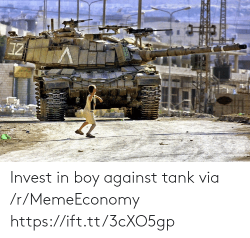 tank: Invest in boy against tank via /r/MemeEconomy https://ift.tt/3cXO5gp