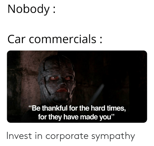 corporate: Invest in corporate sympathy