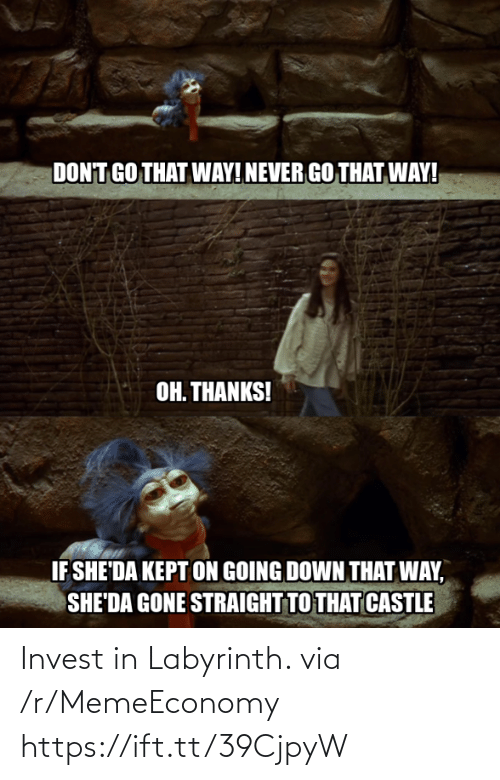 Labyrinth: Invest in Labyrinth. via /r/MemeEconomy https://ift.tt/39CjpyW