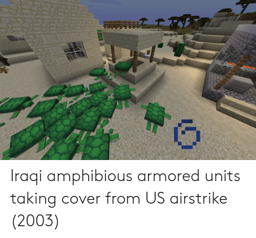 armored: Iraqi amphibious armored units taking cover from US airstrike (2003)