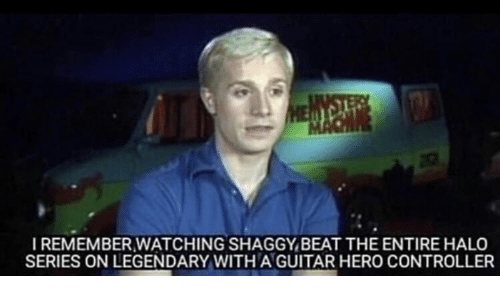 Halo, Guitar, and Halo (Series): IREMEMBER WATCHING SHAGGY,BEAT THE ENTIRE HALO  SERIES ON LEGENDARY WITH A GUITAR HERO CONTROLLER