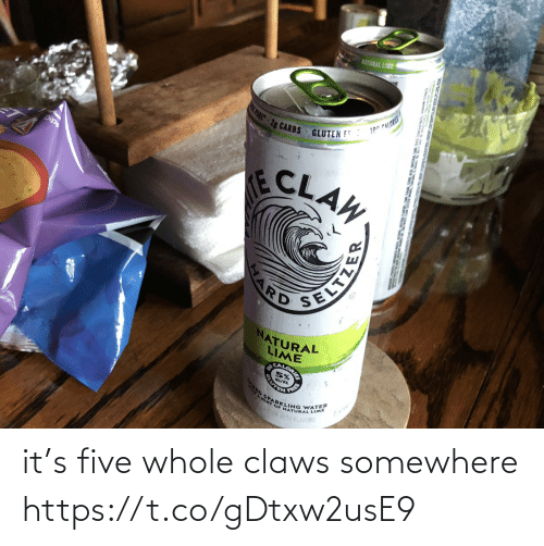 somewhere: it's five whole claws  somewhere https://t.co/gDtxw2usE9