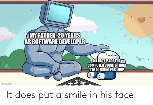 face: It does put a smile in his face