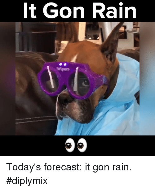 Memes, Forecast, and Rain: It Gon Rain Today's forecast: it gon rain. #diplymix