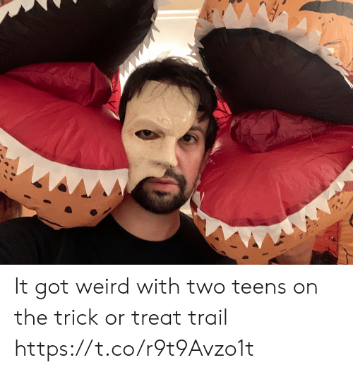 Teens: It got weird with two teens on the trick or treat trail https://t.co/r9t9Avzo1t