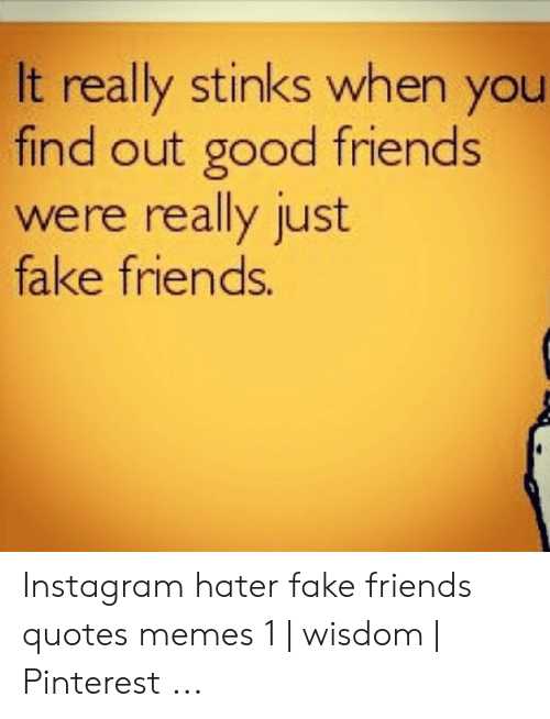It Really Stinks When You Find Out Good Friends Were Really ...