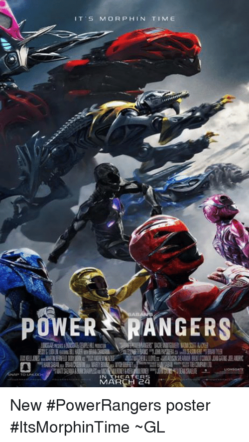 Morphing: IT S MORPH IN TIME  POWER RANGERS  HEATERS  MARCH 24 New #PowerRangers poster #ItsMorphinTime  ~GL