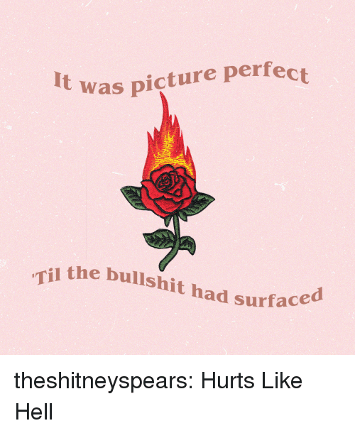 Target, Tumblr, and youtube.com: It was picture perfect  the bullshit had surfac  l surfaced theshitneyspears: Hurts Like Hell
