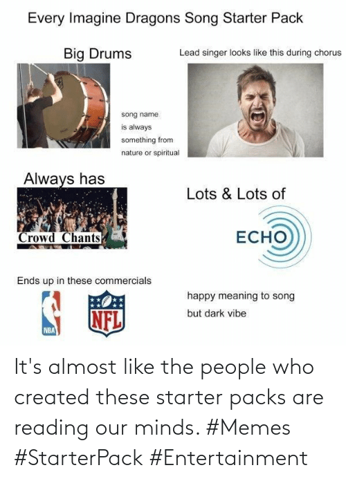 entertainment: It's almost like the people who created these starter packs are reading our minds. #Memes #StarterPack #Entertainment