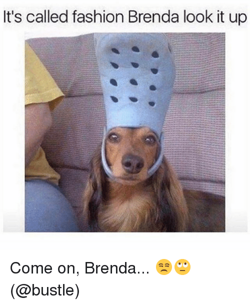 Its Called Fashion: It's called fashion Brenda look it up Come on, Brenda... 😒🙄 (@bustle)