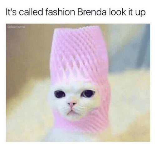 Fashion, Look, and Brenda: It's called fashion Brenda look it up  edabmoms