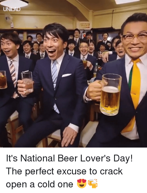 Beer, Dank, and Cold: It's National Beer Lover's Day! The perfect excuse to crack open a cold one 😍🍻