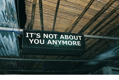 You,  Anymore, and Its Not About You: IT'S NOT ABOUT  YOU ANYMORE